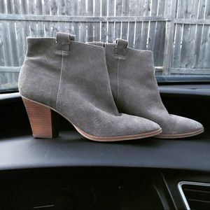 J. Crew Eaton taupe suede ankle boots